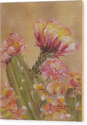Wood Print featuring the painting Sun Worshipper by Judith Rhue