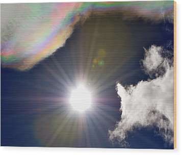Sunbeams Wood Print by Heather L Wright