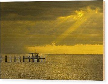 Sunbeams Of Hope Wood Print by Marvin Spates
