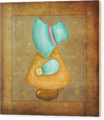 Sunbonnet Sue Wood Print by Brenda Bryant
