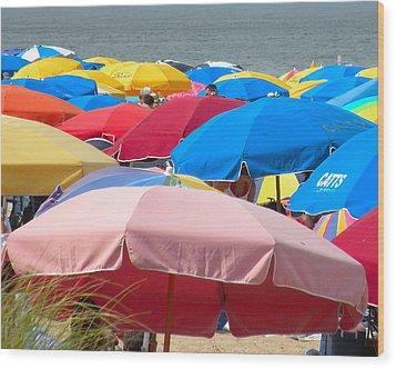 Sunbrellas Wood Print by Kim Bemis