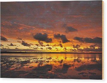 Sunburnt Sky Wood Print by Sally Nevin