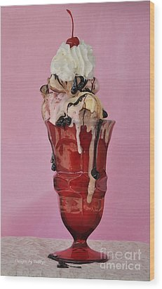 Wood Print featuring the photograph Sundae Anyone? by Debby Pueschel