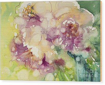 Sundappled Rose Wood Print by Judith Levins