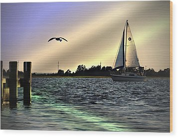 Wood Print featuring the photograph Sunday Afternoon by Allen Beilschmidt