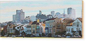 Sunday At Marina Green Park Fort Mason San Francisco Ca Wood Print by Artist and Photographer Laura Wrede