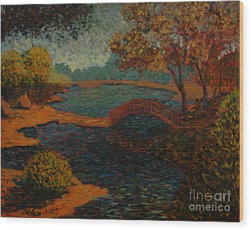 Sunday At The Park II Wood Print by Monica Caballero