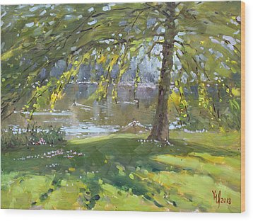 Sunday By The Pond In Port Credit Mississauga Wood Print by Ylli Haruni