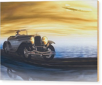 Sunday Drive Wood Print by Bob Orsillo