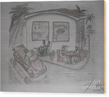Sunday Drive Thru Wood Print by James Eye