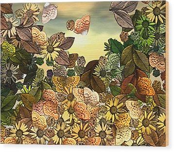 Sunday Garden Wood Print by Wendy J St Christopher