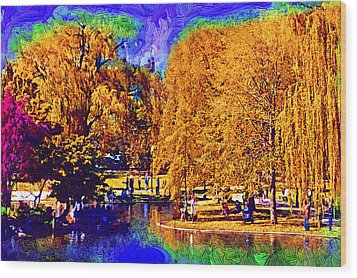 Sunday In The Park Wood Print by Kirt Tisdale