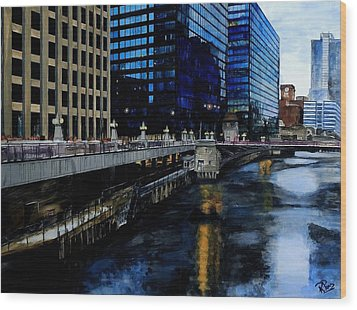Sunday Morning In January- Chicago Wood Print by Raymond Perez