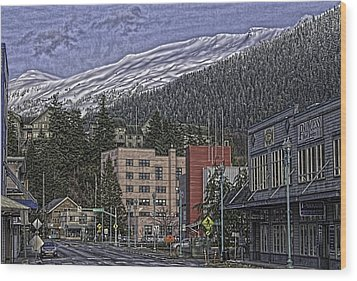 Sunday Morning In Ketchikan Wood Print