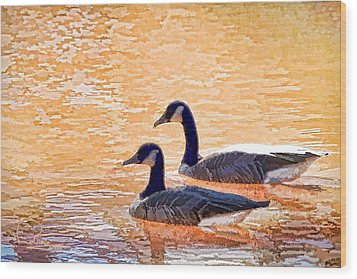 Wood Print featuring the photograph Sunday On The Pond by Ludwig Keck
