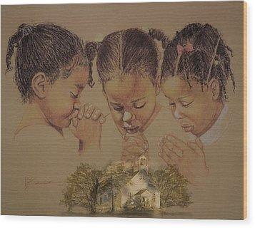 Sunday Prayers Wood Print
