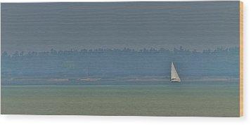 Sunday Sailing  Wood Print by Daniel Thompson