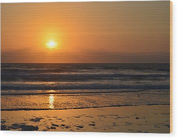 Wood Print featuring the photograph Sundays Golden Sunrise by DigiArt Diaries by Vicky B Fuller
