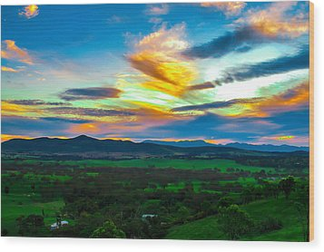 Sunday's Sunsets  Wood Print