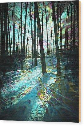 Sundog Reflections Wood Print