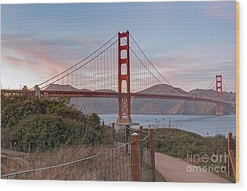 Wood Print featuring the photograph Sundown Bridge by Kate Brown