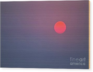 Sundown Wood Print by Heiko Koehrer-Wagner