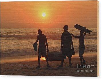 Sundown Wood Print by Kip Krause