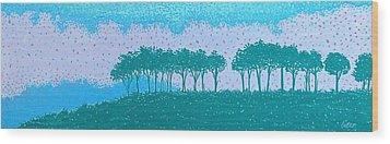 Sundown Wood Print by Lisa Bates