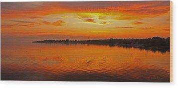 Wood Print featuring the photograph Sundown Near Jastarnia At Hel Penisula In Poland by Julis Simo