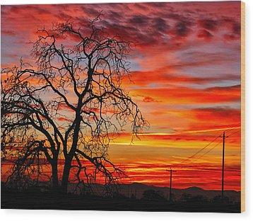 Sundown On Jeffcoat Wood Print