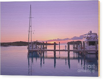 Sundown Serenity Wood Print by Jola Martysz
