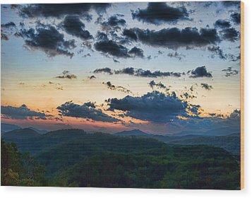 Sundown Wood Print by Steven Richardson