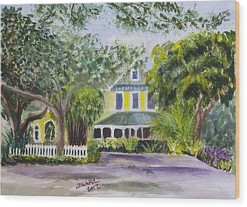Sundy House In Delray Beach Wood Print by Donna Walsh