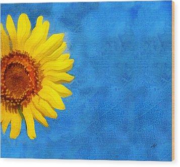 Sunflower Art Wood Print by Ann Powell