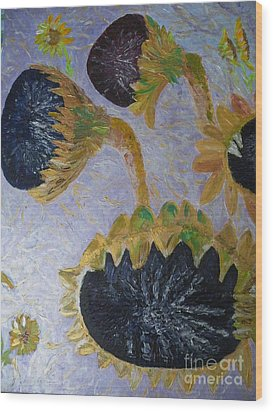 Sunflower Cycle Of Life 3 Wood Print