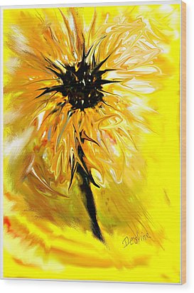 Sunflower Wood Print by Desline Vitto