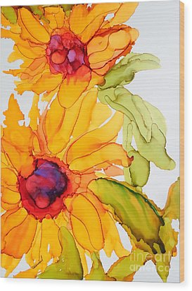 Sunflower Duo Wood Print