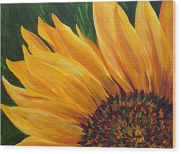 Sunflower From Summer Wood Print by Mary Jo Zorad