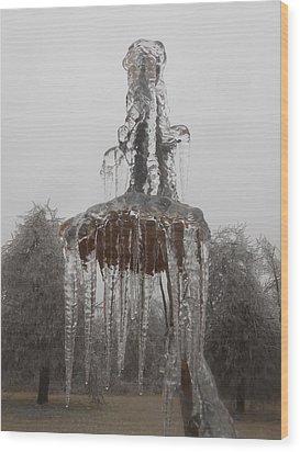 Sunflower Ice Princess Wood Print by Diannah Lynch