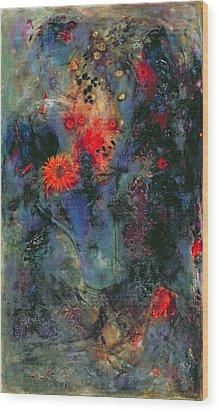 Sunflower Wood Print by Jane Deakin