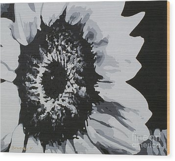 Sunflower Wood Print by Katharina Filus