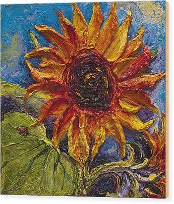 Sunflower Wood Print by Paris Wyatt Llanso