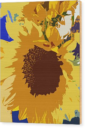 Sunflower Pop Wood Print by Colleen Kammerer