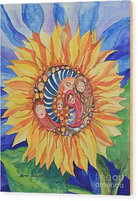 Sunflower Seeds Of Hope Wood Print