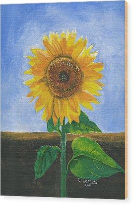 Sunflower Series Two Wood Print by Thomas J Herring