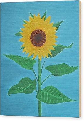 Sunflower Wood Print by Sven Fischer