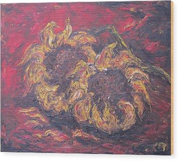 Sunflowers 2 - Ode To Van Gogh Wood Print