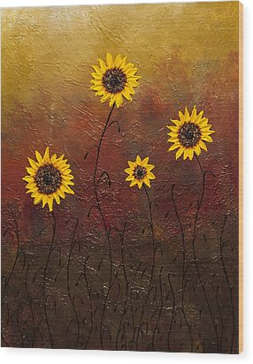Sunflowers 3 Wood Print