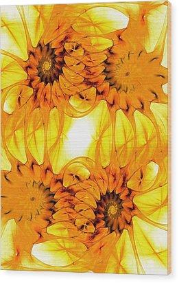Sunflowers Wood Print by Anastasiya Malakhova