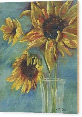 Sunflowers Wood Print by Chris Brandley